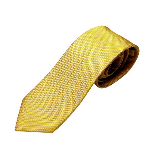 Yellow Two Tone Silk Tie from Van Buck