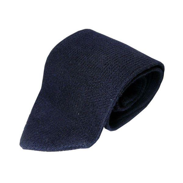 Knightsbridge Dark Navy Knitted Wool Tie from Knightsbridge Neckwear