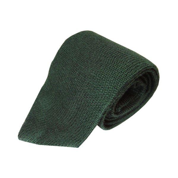 Knightsbridge Dark Green Knitted Wool Tie from Knightsbridge Neckwear