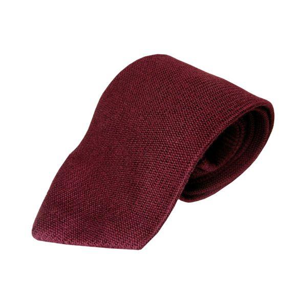 Knightsbridge Burgundy Knitted Wool Tie from Knightsbridge Neckwear
