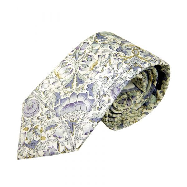 Liberty Print Lodden Design in Sage Cotton Tie