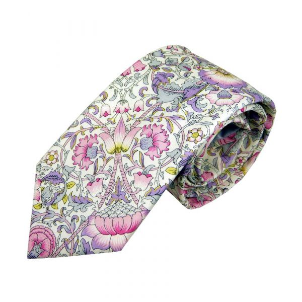 Liberty Print Lodden Design in Pink Cotton Tie