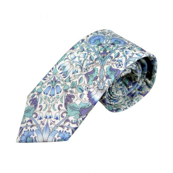 Liberty Print Lodden Design in Blue Cotton Tie