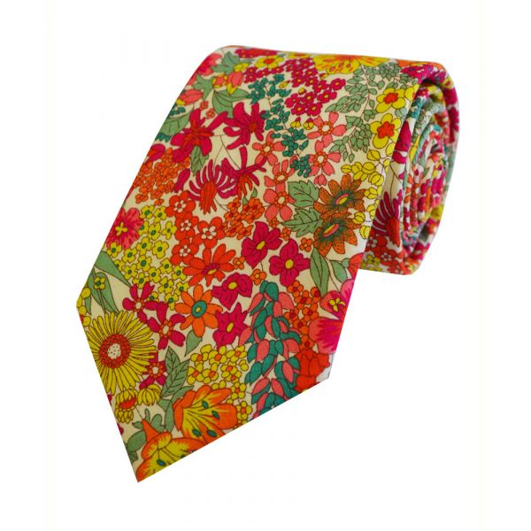 Liberty Print 'Margaret Annie' in Pink Cotton Tie