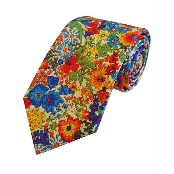 Liberty Print 'Margaret Annie' in Multi Cotton Tie