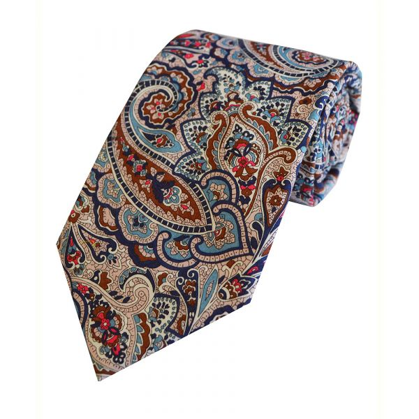 Made with Liberty Fabric Tessa in Blue Cotton Tie