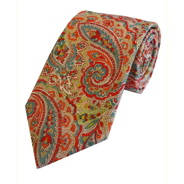 Made with Liberty Fabric Tessa in Orange Cotton Tie