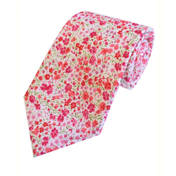 Liberty Print 'Phoebe' in Pink Cotton Tie