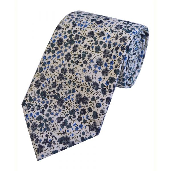 Liberty Print 'Phoebe' in Blue Cotton Tie