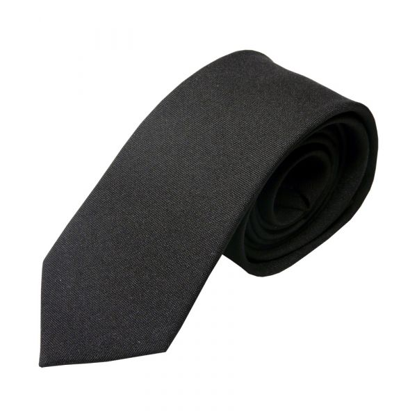 Black Polyester Panama Tie from L A Smith