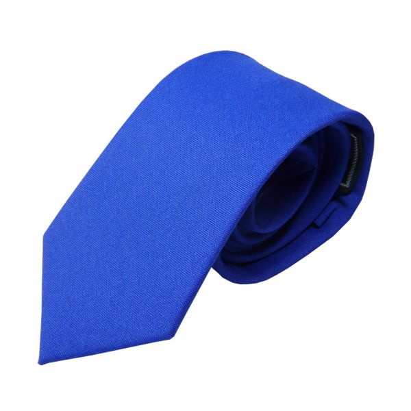 Royal Blue Polyester Panama Tie from L A Smith