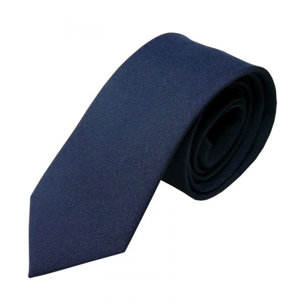 Navy Polyester Panama Tie from L A Smith