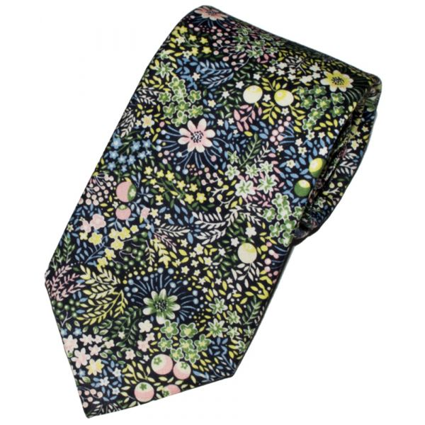 Liberty Print 'Elderberry' Design in Pink Cotton Tie