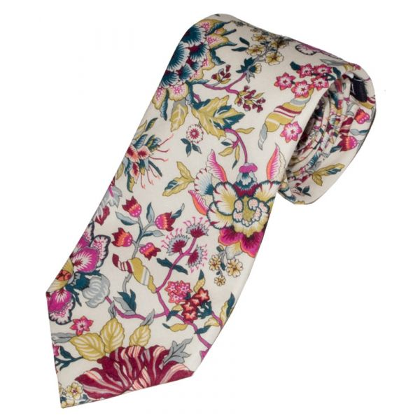 Liberty Print Fabric 'Christelle' Design in Pink Cotton Tie