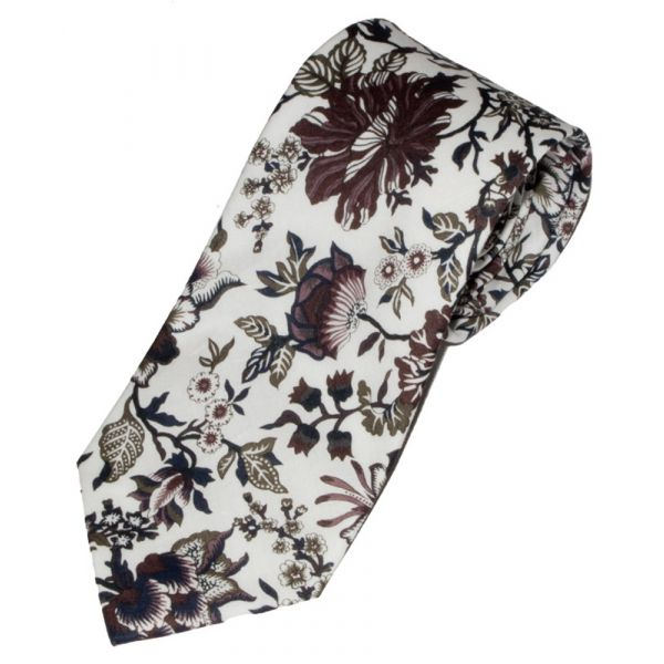 Liberty Print 'Christelle' Design in Plum Cotton Tie