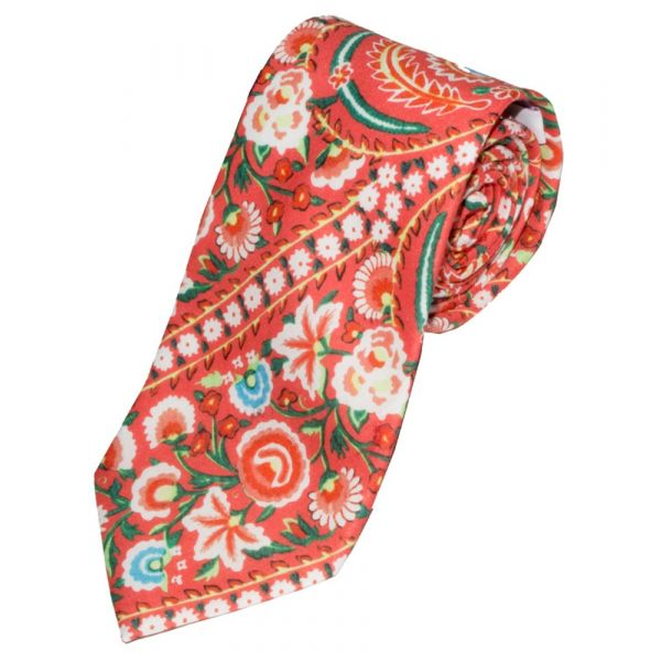 Liberty Print 'Von Trapp' Design in Red Cotton Tie