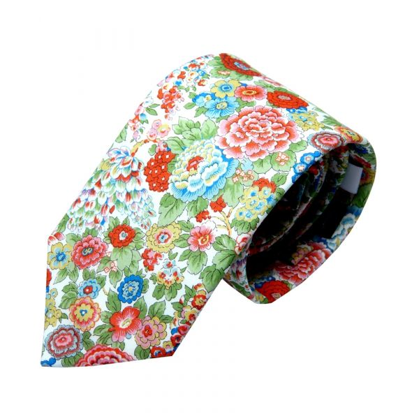 Liberty Cotton Tie - Elysian Day Multi Floral