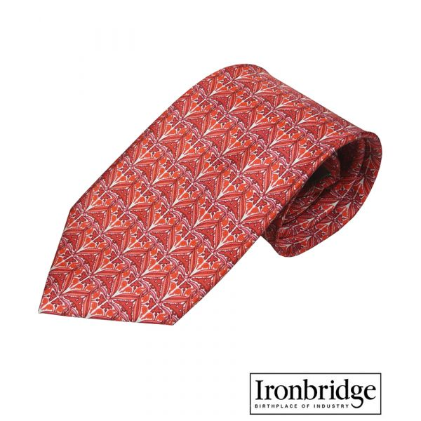 Red Lustre Silk Tie by Fox & Chave