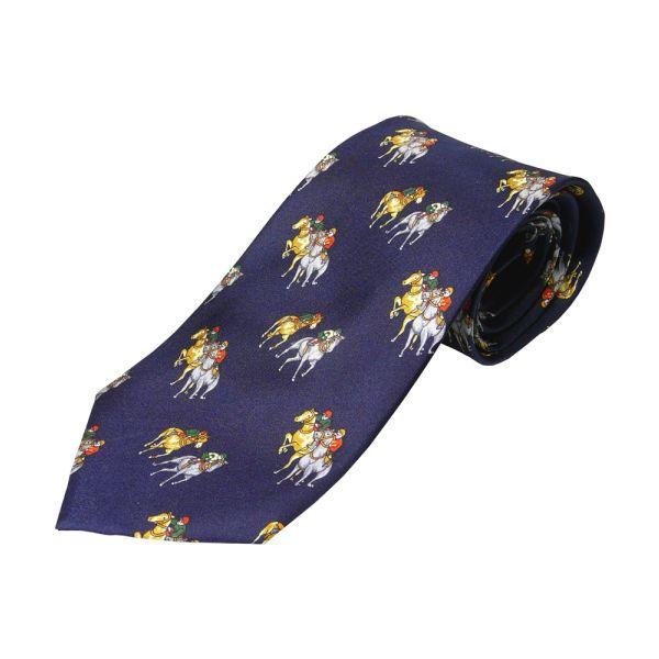 Navy Horse Racing Tie