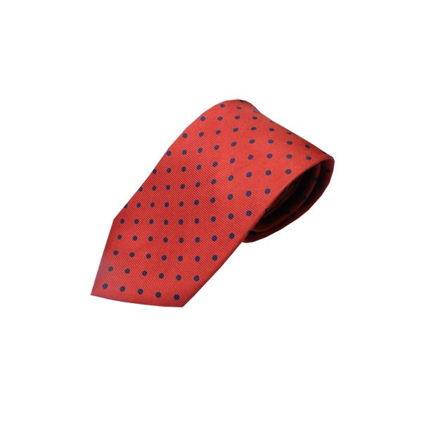 Red Tie With Black Polka Dots
