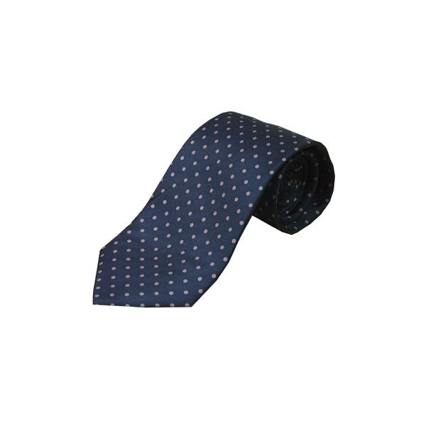 Navy with Lilac Spots Silk Tie