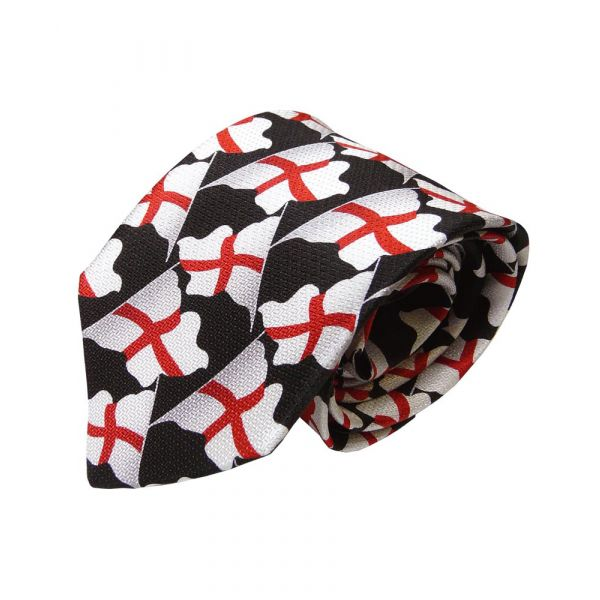 English Flags Design Silk Ties