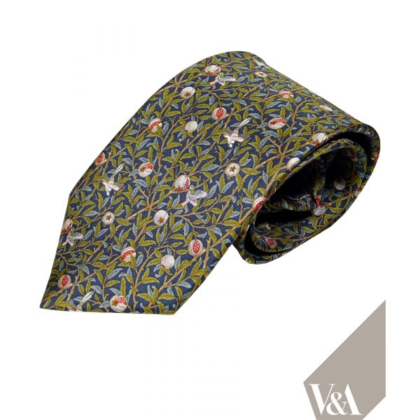 Morris Pomegranate Silk Tie by Fox & Chave
