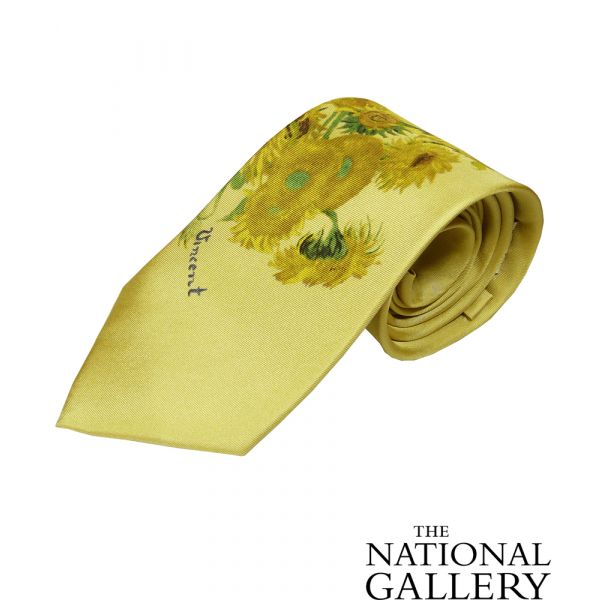 Van Gogh Sunflowers Silk Tie by Fox & Chave