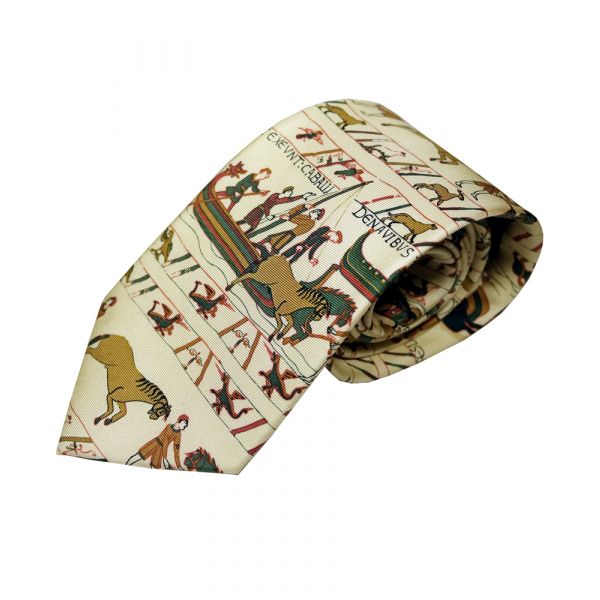 Bayeux Tapestry Silk Tie by Fox & Chave