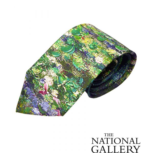 Monet Pond Silk Tie by Fox & Chave