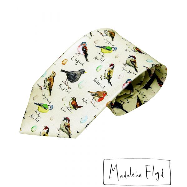Birdsong Silk Tie by Fox & Chave
