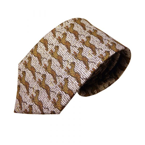 Byzantine Leopard Silk Tie from Fox and Chave