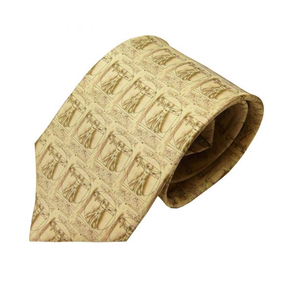 Da Vinci Man Silk Tie from Fox and Chave