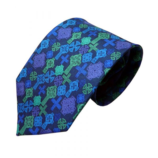Celtic Crosses Silk Tie from Fox and Chave