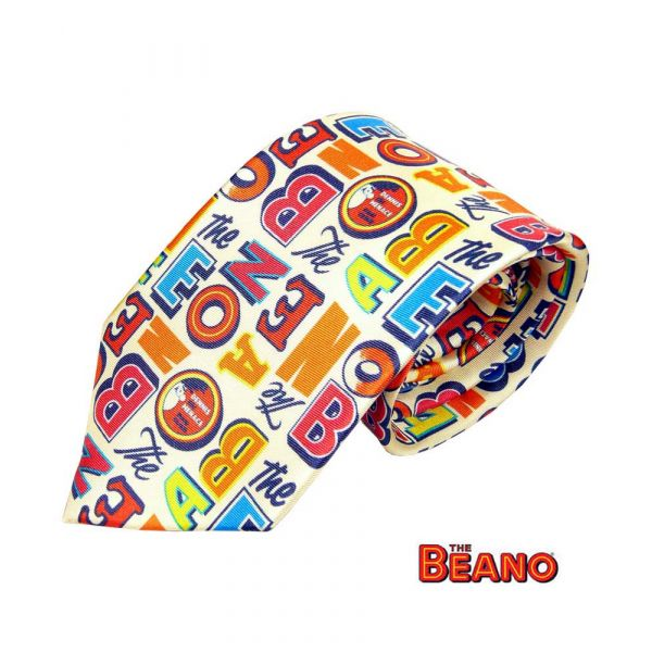 Letters from The Beano Silk Tie from Fox and Chave