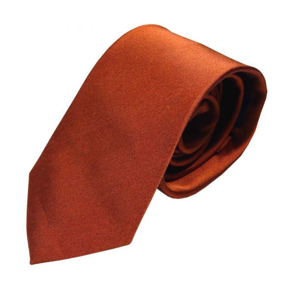 Orange Tonic Silk Tie from Van Buck