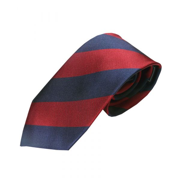 Burgundy and Navy blue regimental tie