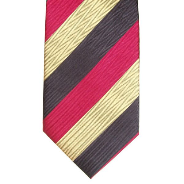 Red Black and Gold Striped tie
