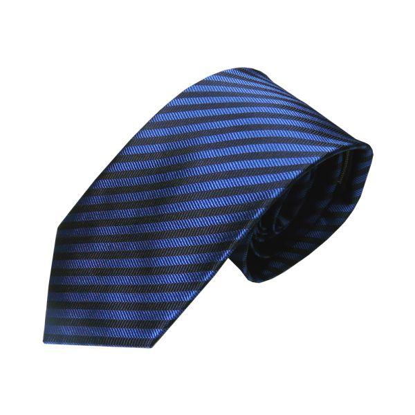 Blue with narrow black stripe tie