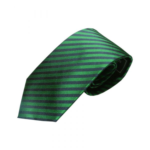 Emerald Green and Dark Navy Narrow stripe tie