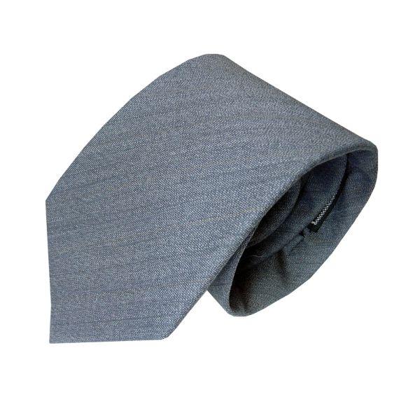Grey Woven Wool Tie