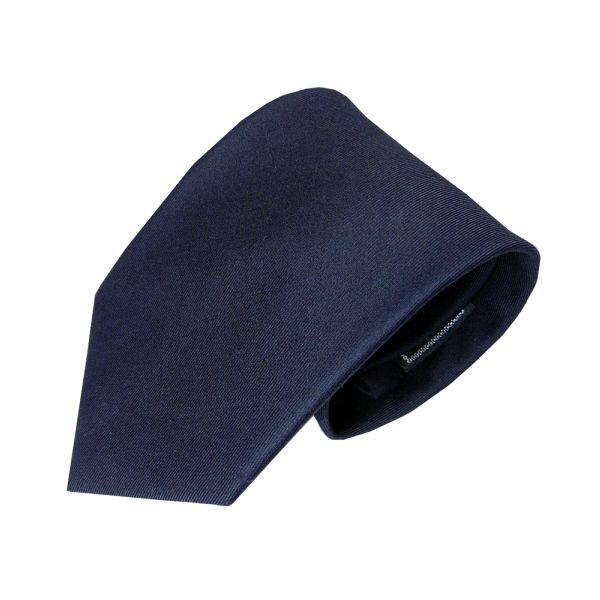 Navy Woven Wool Tie