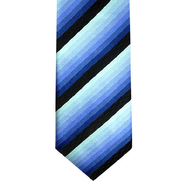 Purple/Blue Shaded Stripes Woven Silk Tie