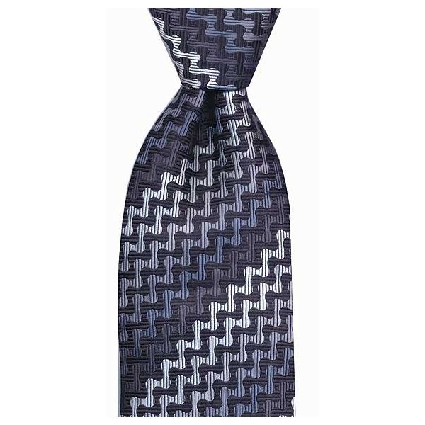 Blues Wavy Stripes Woven Stripes Tie