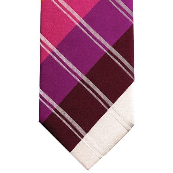 Orange and Pink Multi Stripes Silk Tie