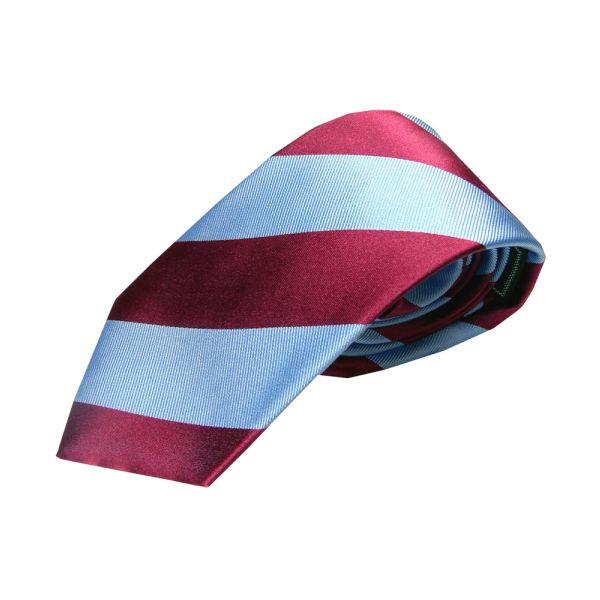 Claret and Blue Regimental Stripe Tie