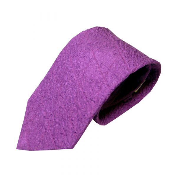 Purple Quilted Silk Tie