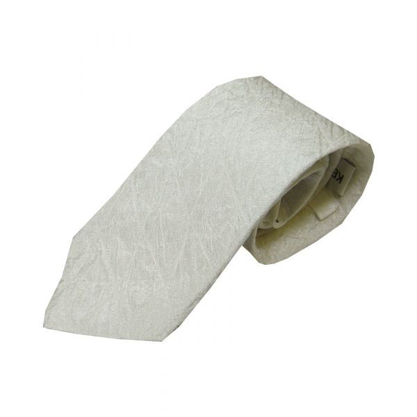 White Quilted Silk Tie