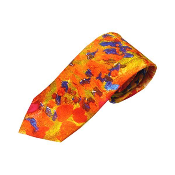 Multi Abstract Paint Design Silk Tie