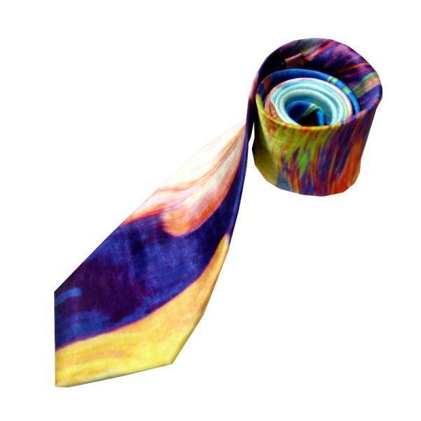 Multi Abstract Design Silk Tie